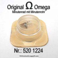 Omega Minutenrad mit Minutenrohr 520-1224 Omega 520 1224 Höhe 4,19 Cal. 520