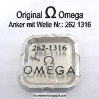 Omega 262-1316 Anker mit Welle, Omega 262 1316 Cal. 30T2RG 30SCT2RG 262 281
