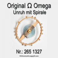 Omega Unruh mit Spirale, Welle komplett montiert Part Nr. Omega 265-1327 Cal. 265 266 267 283 284