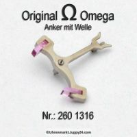 Omega Anker mit Welle Part Nr. Omega 260 1316 Cal. 30 30T1 30T2 30T2PC 265 266 267 268 269 283 284 285 286