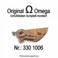 Omega Unruhkloben komplett mit Incabloc und Rücker Part Nr. Omega 330-1006 Cal. 330 331 332 340 341 342 350 351 353