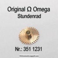 Omega Stundenrad Höhe 1,41 mm Part Nr. Omega 351-1231 Cal. 351 352 354