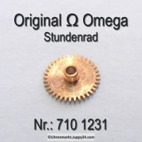 Omega Stundenrad Höhe 0,99 mm Part Nr. Omega 710 1231 Cal. 710 711 712