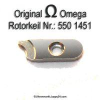 Omega Uhrenersatzteil - Rotorkeil Part Nr. Omega 550 1451 Cal. 550 551 552 560 561 562 563 564 565 750 751 752