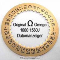 Omega 1000-1580J Omega Datumanzeiger (Datumsscheibe - Datumsring) 1000 1580 gelb, Cal. 1000 1001 1002