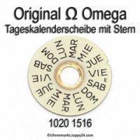 Omega 1020 1516 Omega Tageskalenderscheibe mit Stern (03) Cal. 1020 1021 1022
