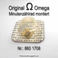 Omega 860-1708 Minutenzählrad montier Omega 860 1708 Cal. 860 861 910 930