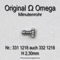 Omega 331-1218, Omega Minutenrohr, Omega Viertelrohr 332 1218, Höhe 2,30 mm Cal. 331 332 333 341 342 343 344