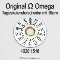 Omega 1020-1516 Omega Tageskalenderscheibe mit Stern Omega 1020 1516 (02) Cal. 1020 1021 1022