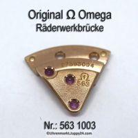 Omega 563 1003 Räderwerkbrücke Part Nr. Omega 563-1003 Cal. 563 SIGNIERT!