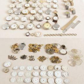 GROSSE KONVOLUT UHREN Armbanduhr Uhr Taschenuhr silber LOT pocket watch silver