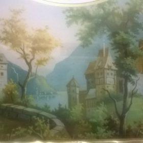Bilderuhr mit Schottenwerk um 1860
