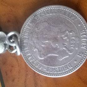 Huguenin Freres Niel Tula Silber  Taschenuhr 935er Silber