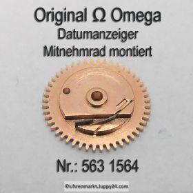 Omega 563-1564 Datumanzeiger Mitnehmrad montiert, Omega 563 1564 (563-1560) Cal. 563 564 565 750 751 752