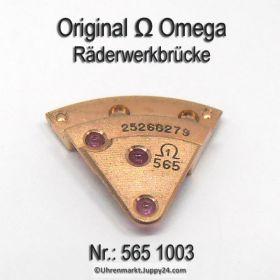 Omega Räderwerkbrücke Part Nr. Omega 565-1003 Cal. 565 SIGNIERT!
