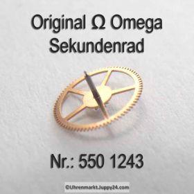 Omega Sekundenrad 550-1243 Omega 550 1243 Cal. 550 551 552 560 561 562 563 564 565 600 601 602 610 611 613 750 751 752