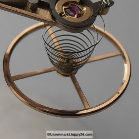 Omega Unruhkloben komplett mit Unruh Welle Incabloc und Schwanenhalsregulage Part Nr. Omega 563-1030 Cal. 563 564 565 750 751 752