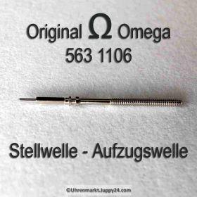 Omega Aufzugswelle Stellwelle Omega 563-1106 Cal. 563 564 565 750 751 752 Ranft W3236