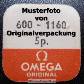 Omega 600-1160 Omega Aufzugswelle 600 1160 Stellwelle männlich, Länge 10,6mm Cal. 600 601 602 610 611