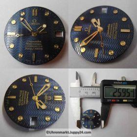 Nr5 Original Omega Seamaster Professional Chronometer 300m 1000ft Zifferblatt (Dial) mit Zeigern (Hands). Kostenloser Versand!