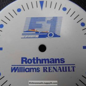 Formel 1 Zifferblatt. F1 TEAM Rothmans Williams Renault (FORMULA ONE DIAL) NOS