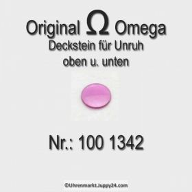 Omega Deckstein für oben und unten Part Nr. Omega 100 1342 Cal. 100 und 252 bis 285 und 330 bis 355 und 480 481 482 550 bis 565 und 600 er Serie