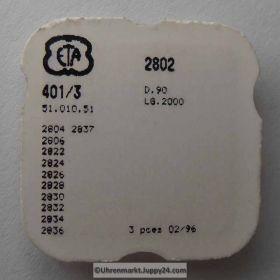 Aufzugswelle Stellwelle ETA  Part Nr.: ETA 2802-401Cal. 11,5 2802 - 2837