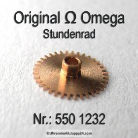 Omega Stundenrad 550-1232 H1 Höhe 1,33 mm Omega 550 1232 Cal. 550 551 552 600 601 602