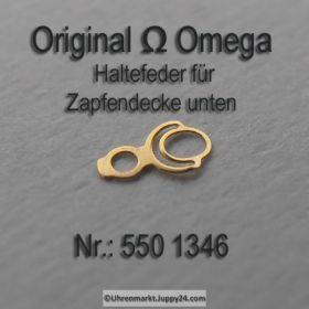 Omega 244-1350 Haltefeder für Zapfendecke unten, Omega 244 1350 Cal. 244 252 550 551 552 560 561 562 600 601 602 610 611