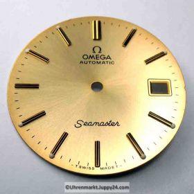 Nr15 Omega Seamaster Automatic Zifferblatt 29,5mm goldfarben - schimmernd und lumeszierenden Leuchtindizes (Omega Dial)