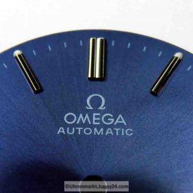 Nr16 Omega Seamaster Automatic Zifferblatt 29,5mm blau - schimmernd und lumeszierenden Leuchtindizes (Omega Dial)