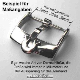 Omega Dornschließe Edelstahl, NOS - Omega Schnalle, Uhrbandverschluß mit Omega Logo, Omega Buckle.