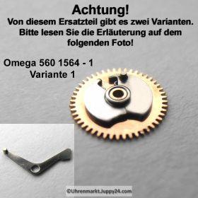 Omega 560-1564 Omega Datumanzeiger Mitnehmrad montiert Variante 1 Cal. 560 561 562 610