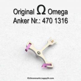 Omega 470-1315 Anker mit Welle, Omega 470 1316 Cal. 470 471 490 491 500 501 502 503 504 505