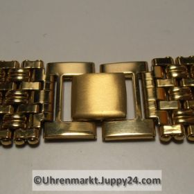 Uhrband – Uhrenarmband Nr3 Edelstahl vergoldet 20mm mit Sicherheitsfaltschließe NEU