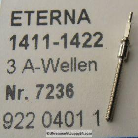 Eterna Aufzugswelle - Stellwelle Part Nr. 401 für Kaliber 1411-1422