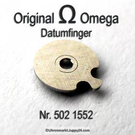 Omega 502-1552 Datumfinger montiert, Omega 502 1552 Cal. 502 503 504