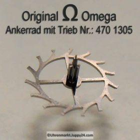 Omega Ankerrad mit Trieb Part Nr. Omega 470-1305 Cal. 470 471 500 501 502 503 504 505