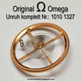 Omega 1010-1327 Unruh mit Spirale, Welle komplett montiert, 1010 1327 Cal. 1010 1011 1012 1020 1021 1022 1030 1035