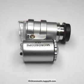 Led - Microskop – Taschenmicroskop mit sehr starker Beleuchtung, 45fach Vergrößerung und Fokus Feineinstellung.