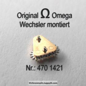 Omega 470-1421, Omega Wechsler montiert, Omega 470 1421, Cal. 470 471 490 491 500 501 502 503 504 505