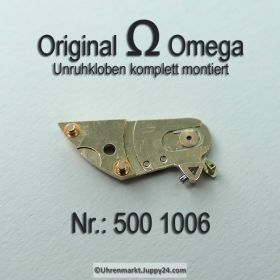 Omega 500 1006 Omega Unruhkloben komplett mit Incabloc und Schwanenhals Feinregulierung Cal. 500 501 502 503 504 505
