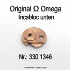 Omega 330-1346 Incabloc unten, Omega 330 1346 Cal. 28.10RA 28.10RASC 30.10RA 330 bis 520 siehe Anzeige.