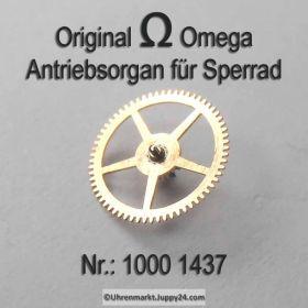 Omega 1000-1437, Omega Antriebsrad für Sperrad, Omega 1000 1437 Cal. 1000 1001 1002
