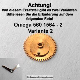 Omega 560-1564, Omega Datumsanzeiger Mitnehmrad montiert, Omega 560 1564 Variante 2 , Cal. 560 561 562 610
