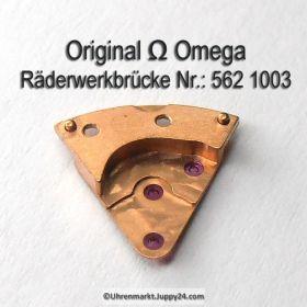 Omega Räderwerkbrücke Part Nr. Omega 562-1003 Cal. 562 SIGNIERT!