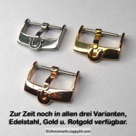 Omega Dornschließe Rotgold, NOS. Omega Schnalle, Uhrbandverschluß mit Omega Logo, Omega Buckle.