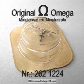 Omega Minutenrad mit Minutenrohr 262-1224 Omega 262 1224 5,61mm Cal.  30 30T1 30T2 30T2 PC 260 261 262 265 266 267 268 269