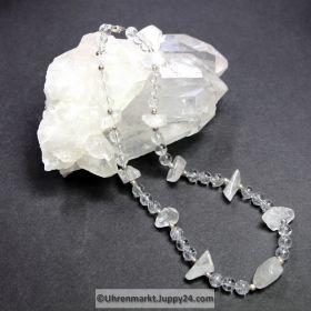 Bergkristallkette (Unikat) 47 cm lang
