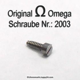 Omega 2003 Schraube für Räderwerkbrück, Federhausbrücke, Unruhkloben…
